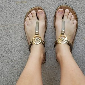 Michael Kors Jelly/Cork Flip Flops